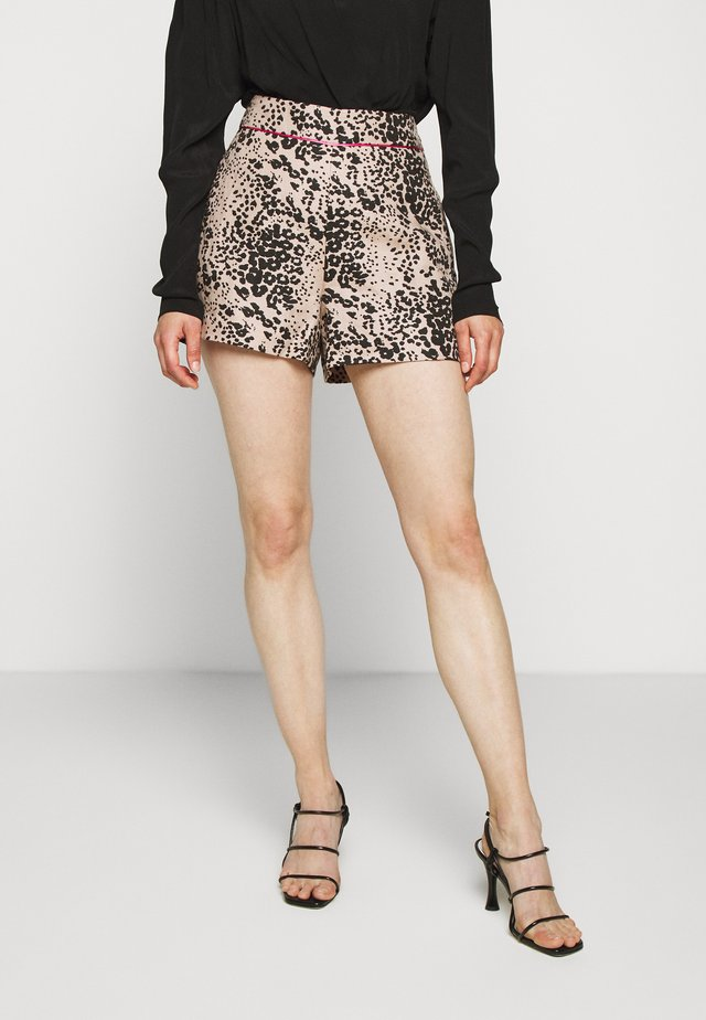 LEOPARD SAILCLOTH - Shorts - ashen black