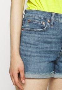 J.CREW - HIGH RISE - Denim shorts - medium faded indigo - 5
