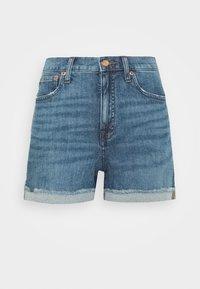 J.CREW - HIGH RISE - Denim shorts - medium faded indigo - 4