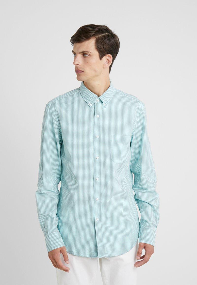 J.CREW - STRETCH SECRET WASH GINGHAM - Camisa - blue