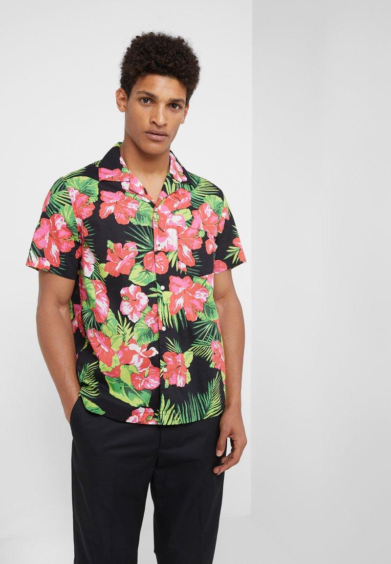 J.CREW - SLUB LAWN CAMP COLLAR - Shirt - rich hibiscus neon pink