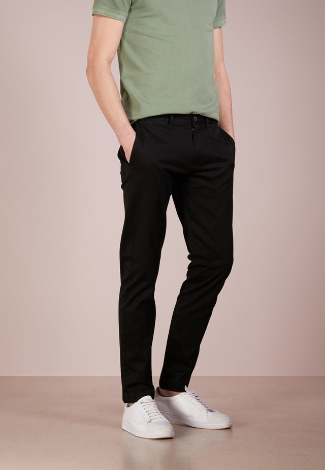MENS PANTS - Chinosy - black