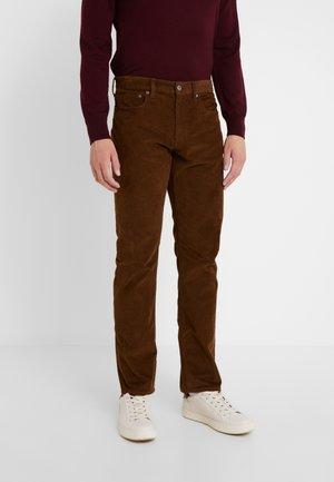 Kangashousut - warm brown