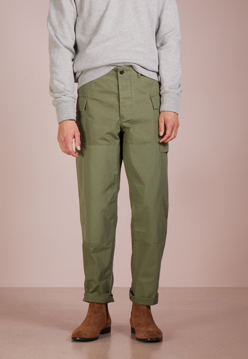 J.CREW - TROUSER MIXED - Cargo trousers - olive drab