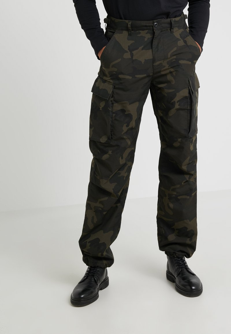 J.CREW - BRIGADE PANT RIPSTOP WOODLAND  - Cargo trousers - olive/brown