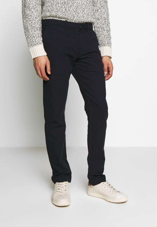 J.CREW STRETCH BRUSHED BROKEN TWILL - Chino - navy grey donegal