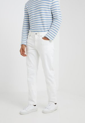 STRETCH  - Jean slim - rinsed white