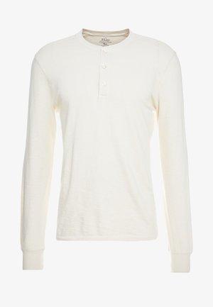 SLUB HENLEY - Topper langermet - white