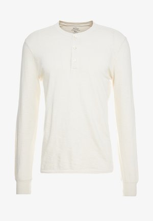 SLUB HENLEY - Long sleeved top - white