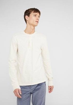 SLUB HENLEY - Longsleeve - white