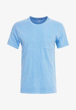 GARMENT DYE POCKET CREW - T-shirt basique - dark lake