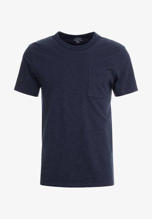 GARMENT DYE POCKET CREW - T-shirt basique - marine navy