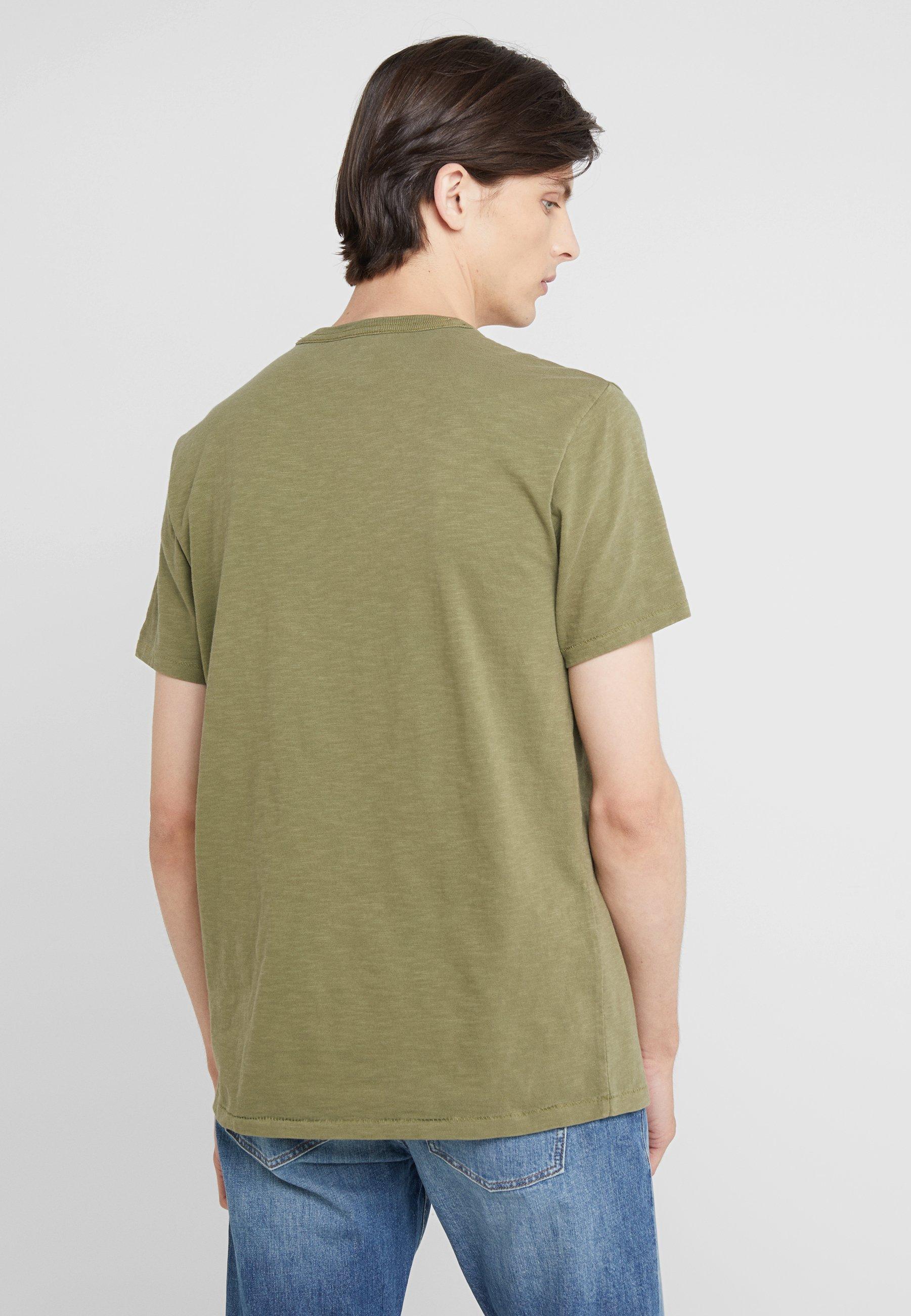 J CrewT shirt Pocket Garment Dye Mountain Olive crew Basique rotdhxsQCB