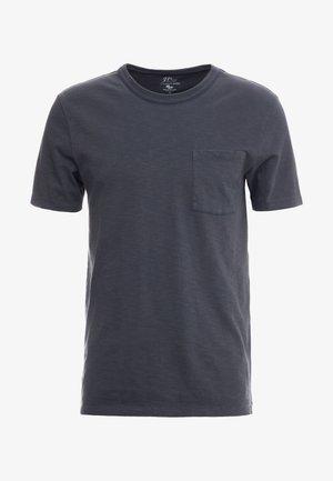 GARMENT DYE POCKET CREW - T-shirt basique - black