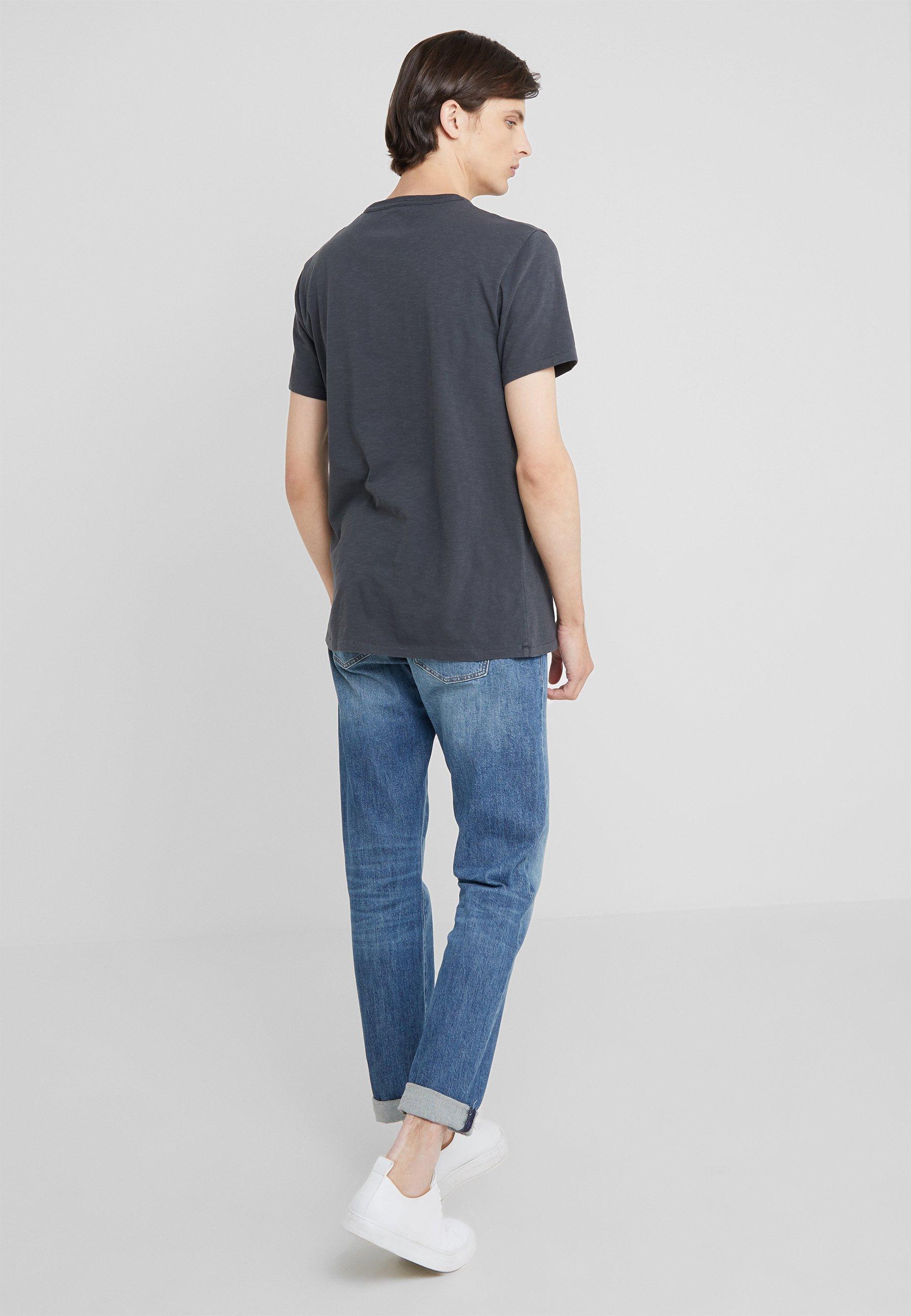 Dye Basique Garment CrewT crew Pocket Black J shirt 8nk0OwP