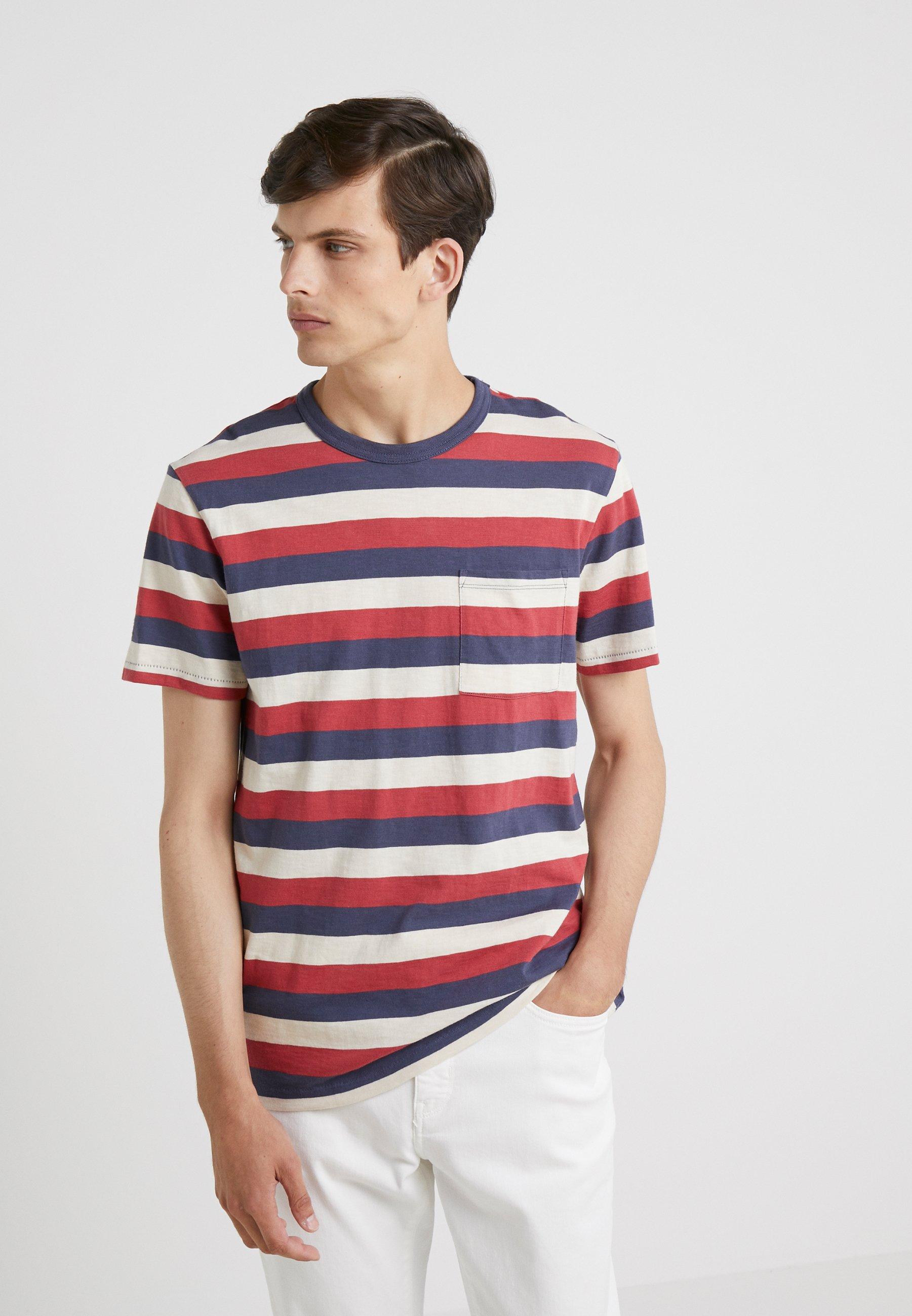 crew Stripe Brick shirt J Tour Imprimé Aztec TeeT De eW9DbE2YIH