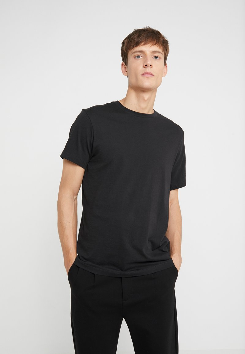 J.CREW - BROKEN IN CREW - T-shirt - bas - black