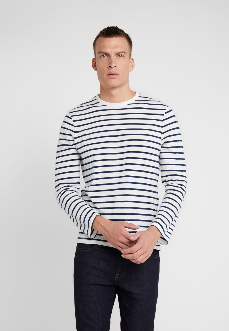 J.CREW - WASHED DECK STRIPE TEE - Long sleeved top - mountain white deck