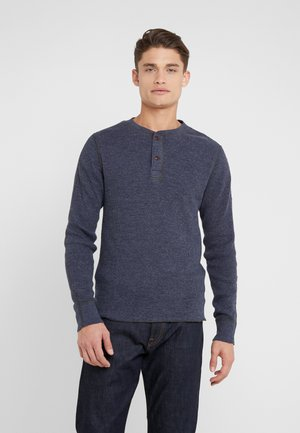 LOWELL  - Long sleeved top - marled navy