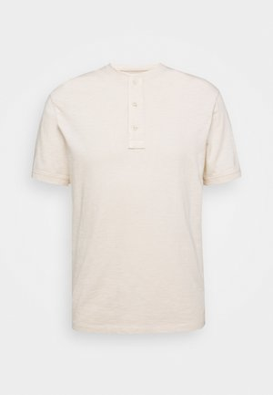 GARMENT DYE HENLEY - Basic T-shirt - natural