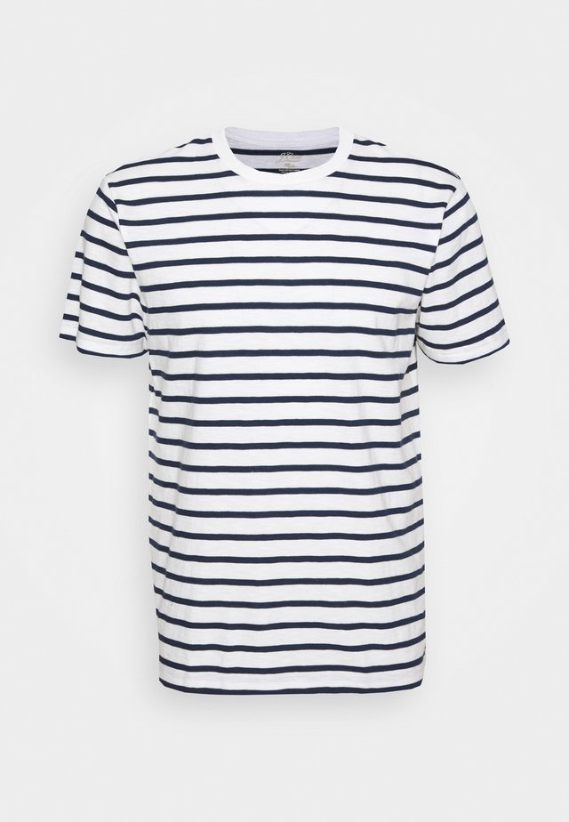 SLUB DECK STRIPE TEE - T-shirt print - mountain white