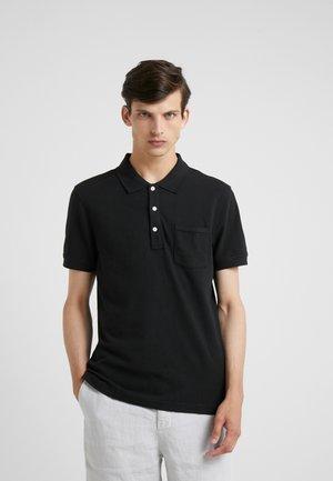 SLIM STRETCH - Koszulka polo - black