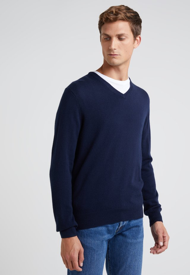 SOLID EVERYDAY CASH - Sweter - navy