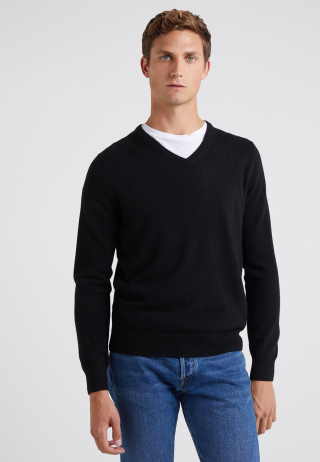 SOLID EVERYDAY CASH - Sweter - black