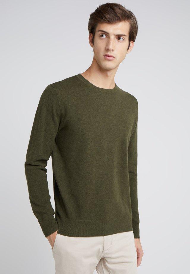 CASH CREW - Sweter - heather olive