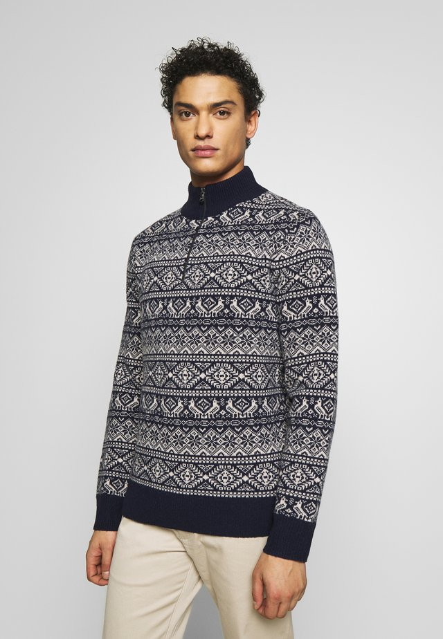 SHARED FAIRISLE - Sweter - navy
