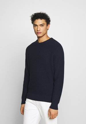 WAFFLE CREW - Strickpullover - navy