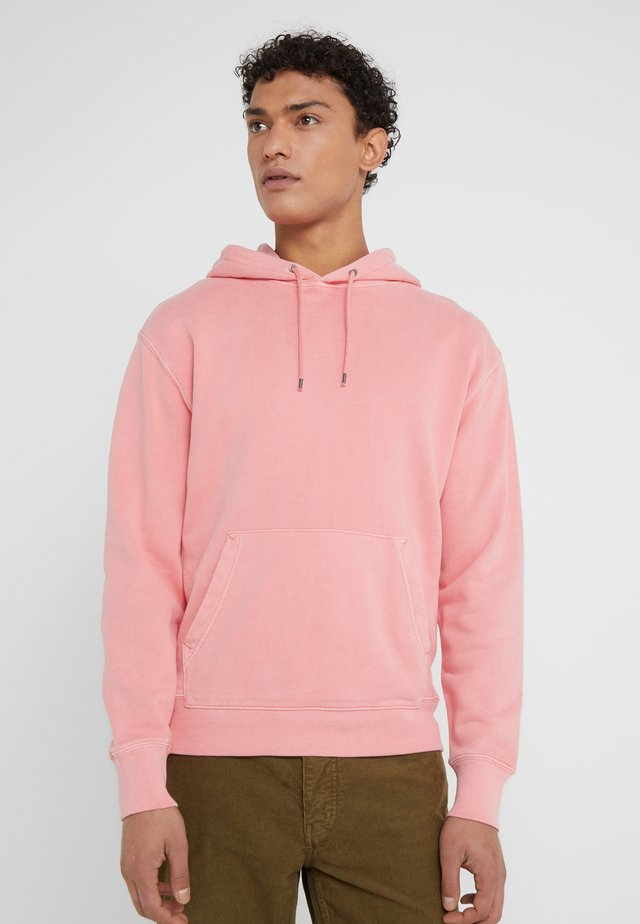 DYE FRENCH TERRY HOODY - Bluza z kapturem - warm rose