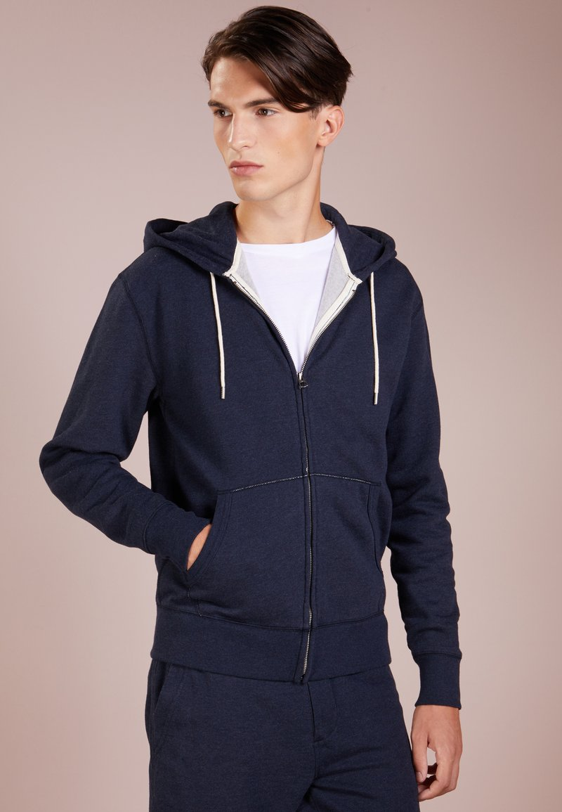 J.CREW - FULL ZIP - Sweatjacke - heather navy