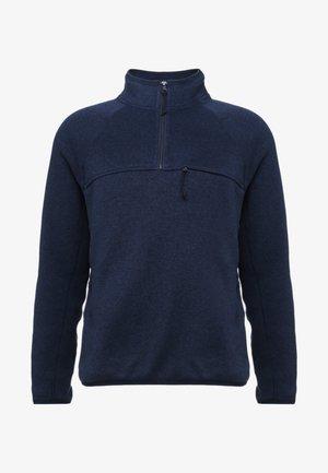HALF ZIP - Strickpullover - marled navy blazer