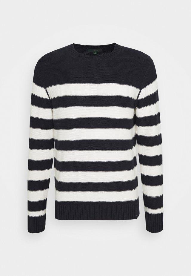 PLACED STRIPE - Sweter - royal indigo