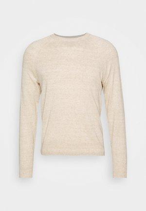 ALOE RAGLAN CREW - Sweatshirt - marled oatmeal