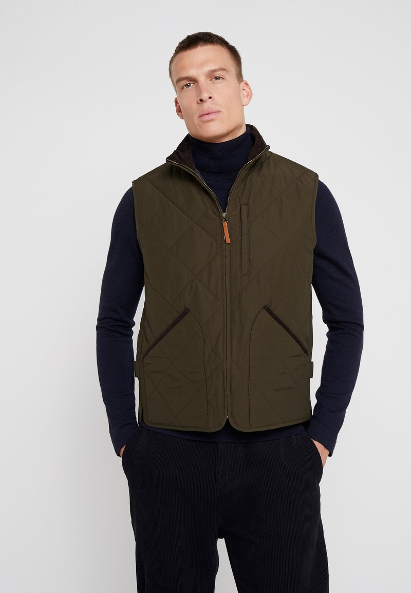 J.CREW - SUSSEX VEST - Väst - evergreen moss