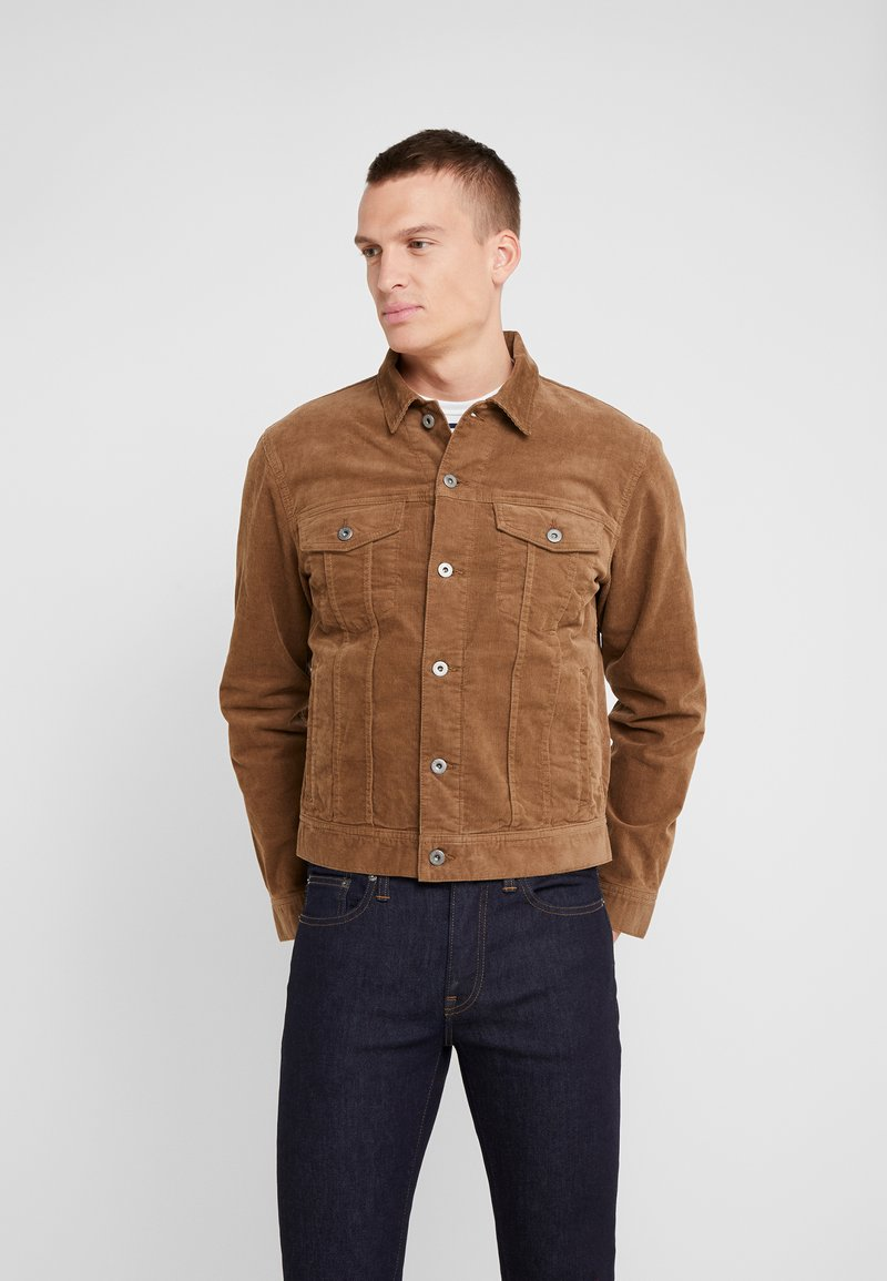 J.CREW - CORDUROY TRUCKER JACKET - Summer jacket - saddle brown