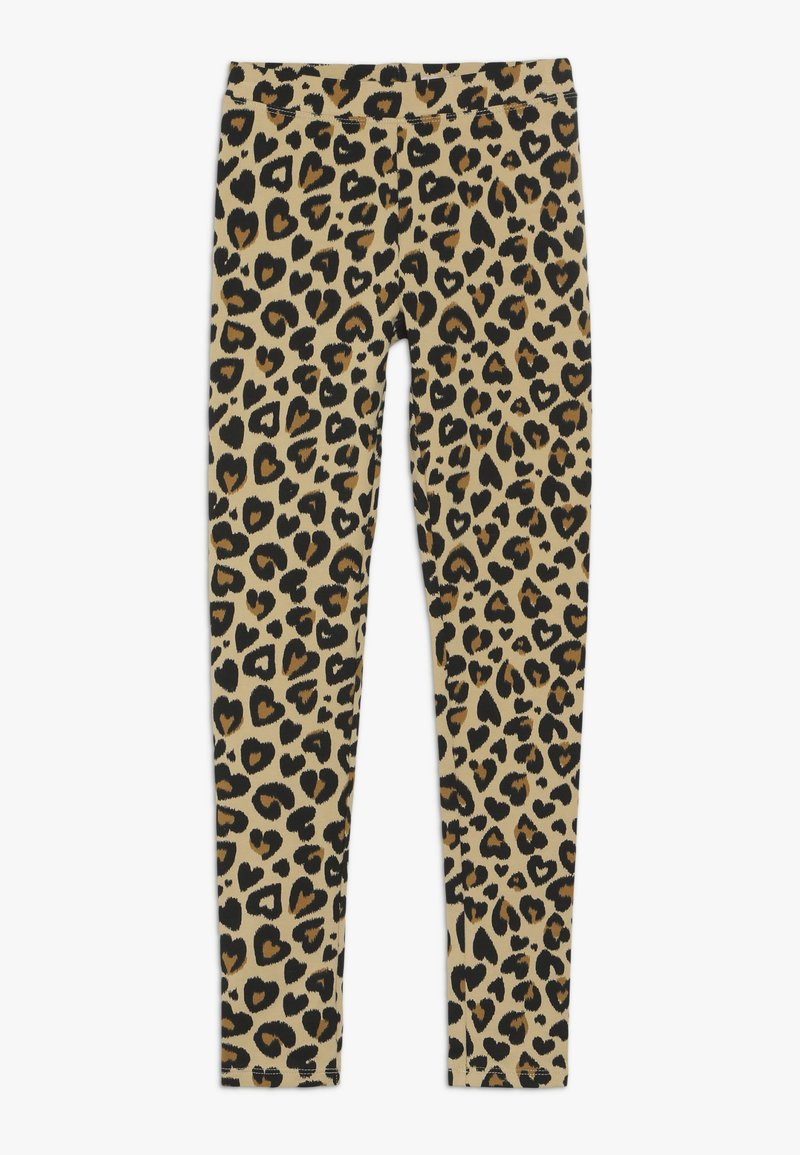 J.CREW - HEART LEOPARD - Leggings - tan brown
