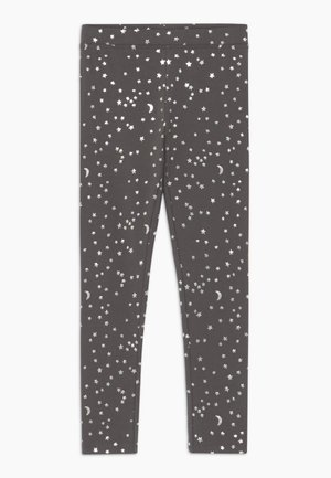 MOON STARS - Legging - charcoal silver stars