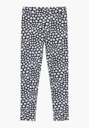 HEARTS  - Legginsy - navy ivory