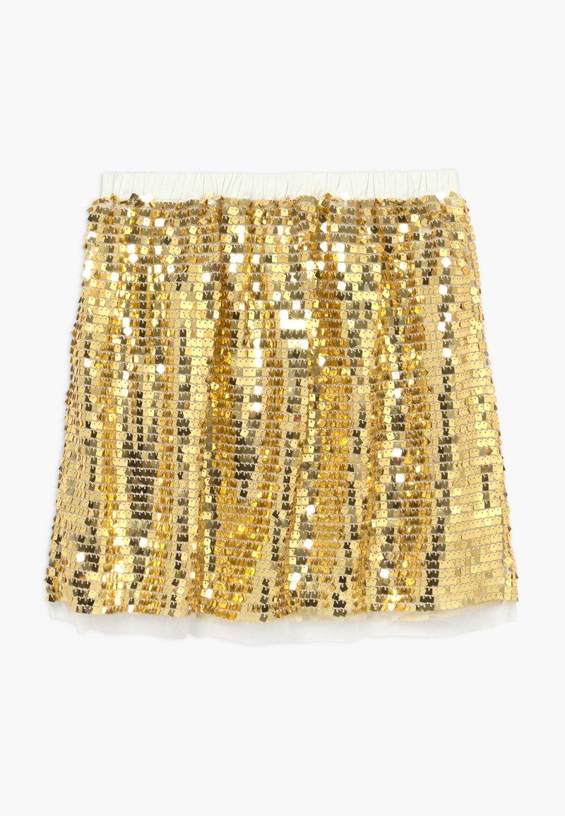 J.CREW - GOLD SEQUIN SKIRT - A-line skirt - gold multi
