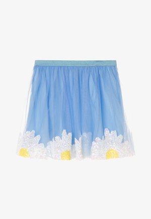 DAISY SKIRT - Mini skirt - blue/ivory/yellow