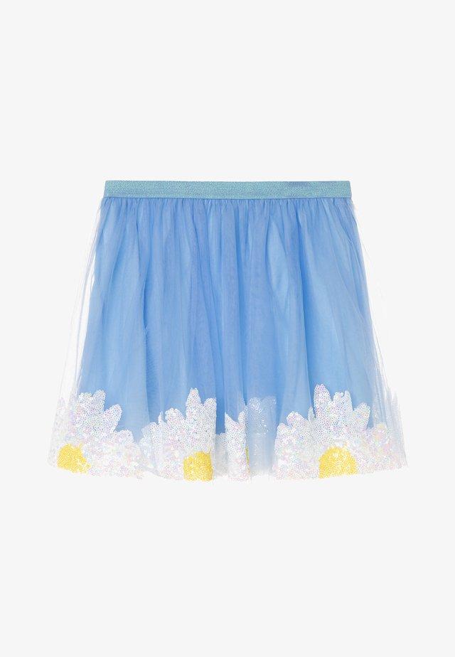 DAISY SKIRT - Minijupe - blue/ivory/yellow