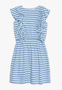 J.CREW - DAPHNE RUFFLE DRESS - Jerseykleid - goulding/sea pale mint - 0