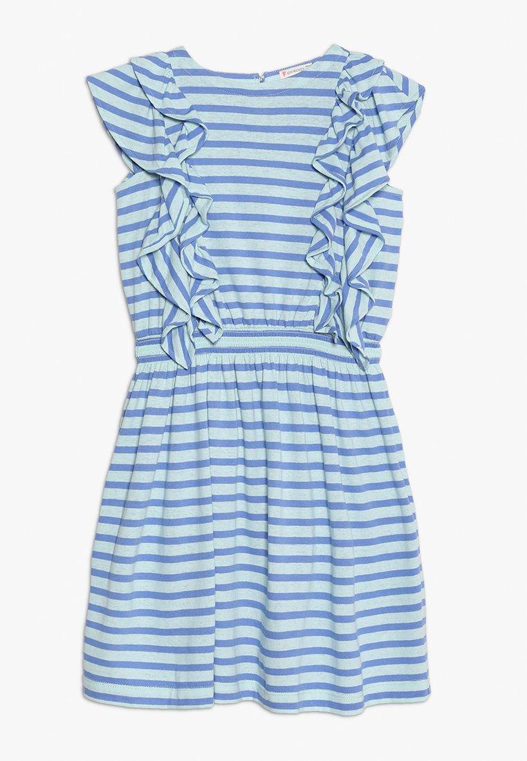 J.CREW - DAPHNE RUFFLE DRESS - Jerseykleid - goulding/sea pale mint