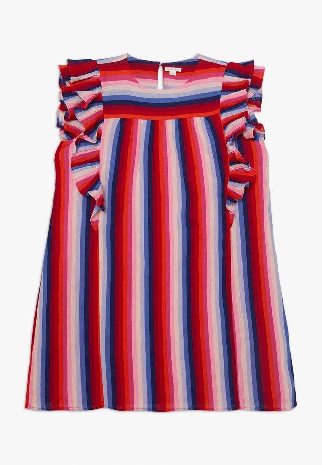PAT DRESS - Robe d'été - red/indigo
