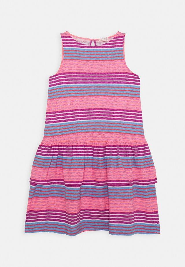 DRESS TEXTURE - Vestito di maglina - lilac/coral