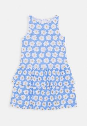 DRESS TEXTURE - Vestido ligero - blue/gold