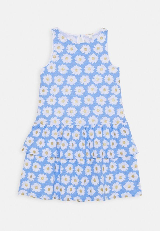 DRESS TEXTURE - Trikoomekko - blue/gold